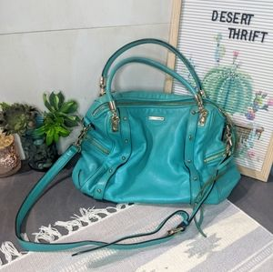 Rebecca Minkoff Cupid Azure Leather Satchel Bag